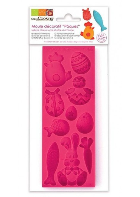 MOULE PAQUES SILICONE ROSE