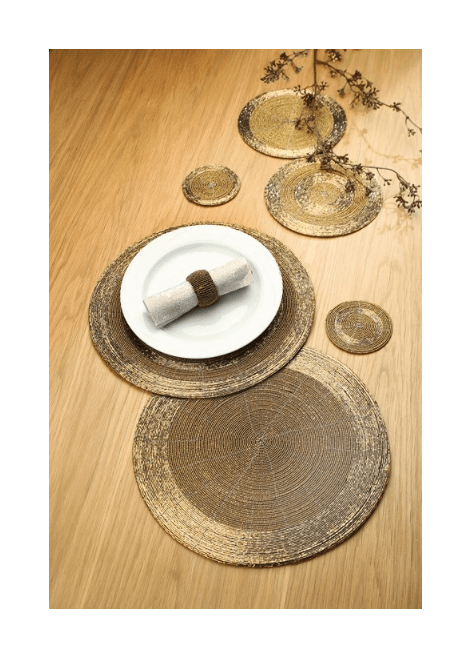 SET TABLE DORE PERLE GILDE