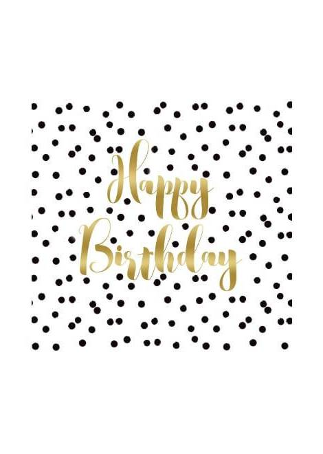 SERVIETTE TABLE ANNIVERSAIRE CONFETTIS PPD