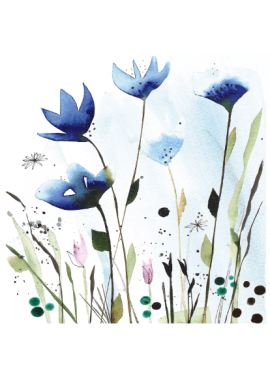 SERVIETTE CORNFLOWERS