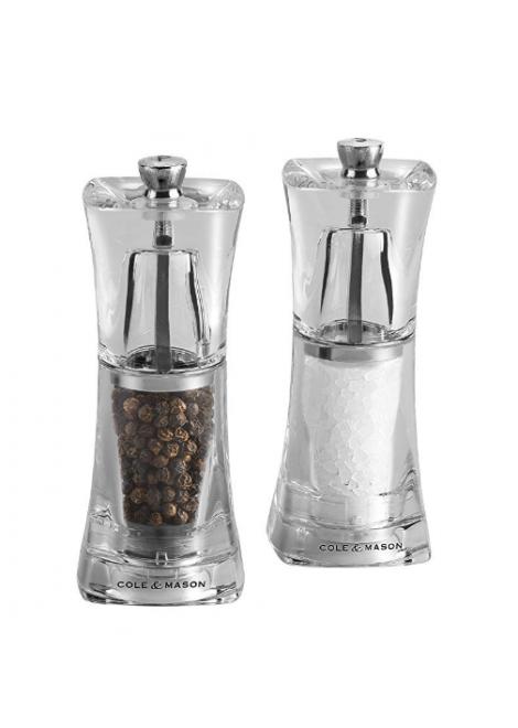 COFFRET SEL/POIVRE CRYSTAL COLE & MASON