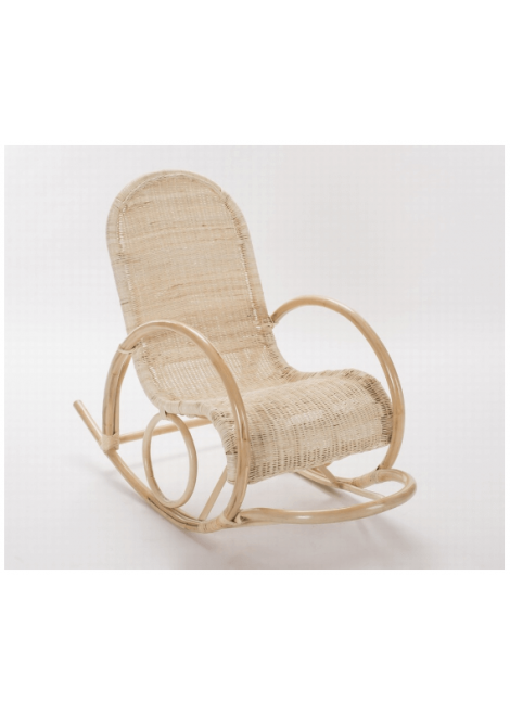 FAUTEUIL ROCKING CHAIR ROTIN VIRGILE TROPIC ATTITUDE