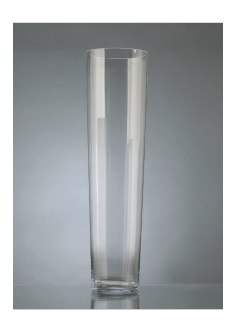 VASE CONIQUE TRANSPARENT H 70CM AMADEUS