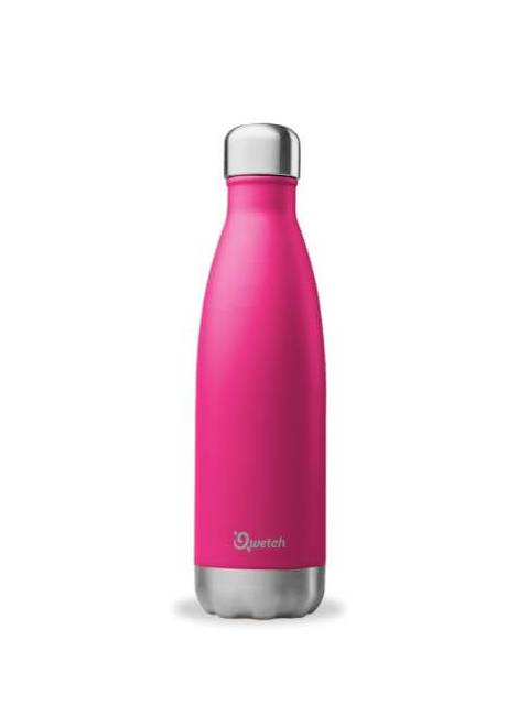 BOUTEILLE ISOTHERME MAGENTA 500ML QWETCH