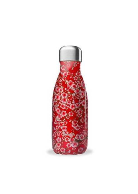 BOUTEILLE THERMOS RED FLOWERS 260 ML QWETCH