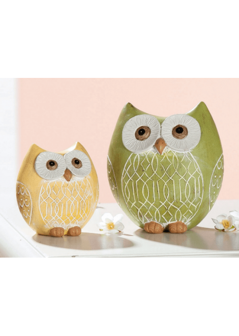 HIBOU CERAMIQUE PRINTEMPS PM 9CM GILDE