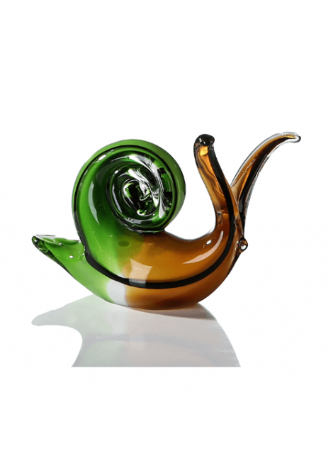 SCULPTURE EN VERRE ESCARGOT CASABLANCA