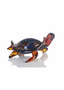 SCULPTURE TORTUE MARRON/BLEU
