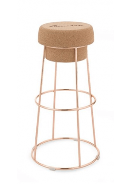 TABOURET BOUCHON OR ROSE