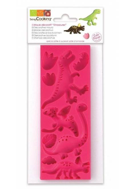 MOULE PATE SILICONE DINOSAURES