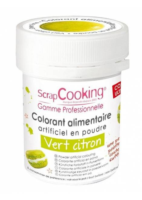 COLORANT ALIMENTAIRE ARTIFICIEL VERT CITRON
