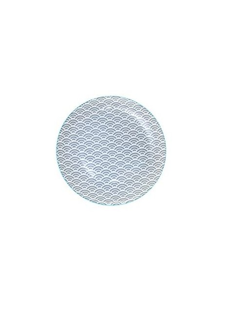 ASSIETTE DESSERT STAR WAVE 20,6CM GRIS