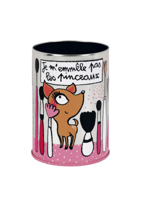 POT A PINCEAUX DE MAQUILLAGE
