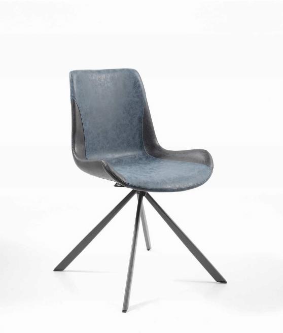 chaise-tournante-iris-bleu-et-noir